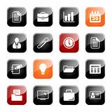 Office and business icons - glossy series