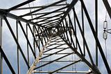  High Voltage Pole from Below - Inside