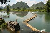 China rural scenery of Yangshou