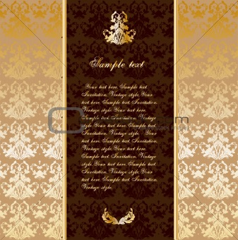 Vintage gold ornament. Vector