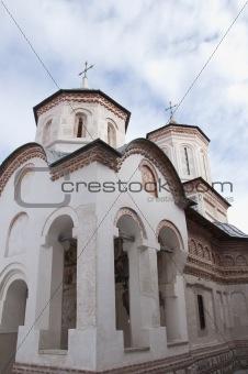 Beautiful white monastery