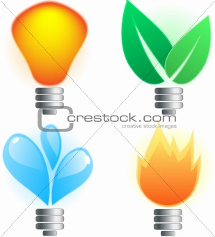 Abstract lightbulb