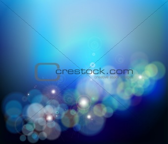 Abstract glowing blue background. Vector