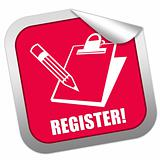 Registster sticker