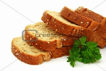 Fresh bread with parsley