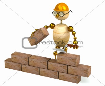 3d wood man builder