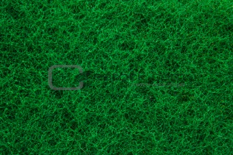 Green abrasive sponge texture background