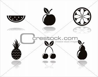 black fruits icons