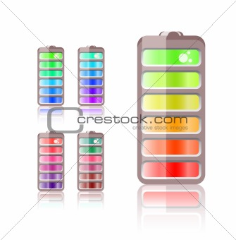 battery icon in different colors