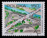 Poland - CIRCA 1974: A stamp - Warsaw