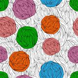 bright tangles on seamless monochrome background