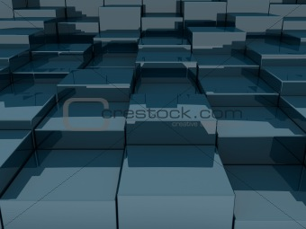 3D blocks in an abstract pattern