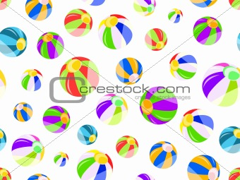seamless pattern with colorful beach balls