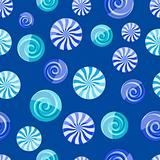 blue cyan striped candy seamless pattern