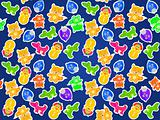 toy animal seamless pattern