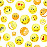 colorful smiles seamless pattern