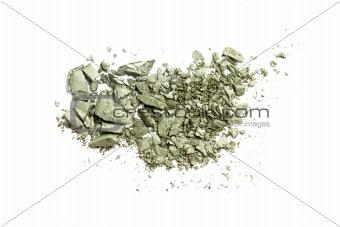 Crushed Eyeshadow isolated on white