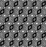 Op art design. Seamless geometric rhombuses pattern.