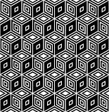 Op art design. Seamless geometric rhombuses pattern.