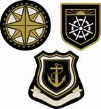 Vector illustration of classic sail badge