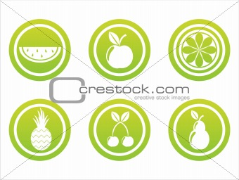 green fruits signs