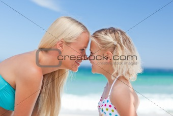 Daughter having fun with her mother