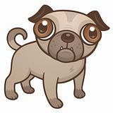 Pug Puppy Cartoon
