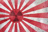 Radioactive old Japan flag