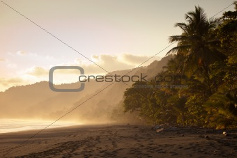 Sunset at deserted beach
