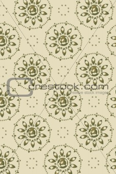 background - graphic flower faces diagonal