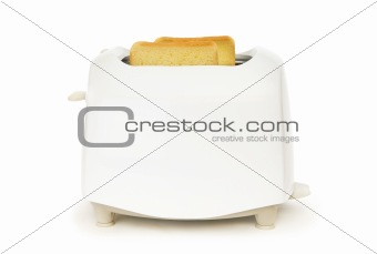 Bread toaster isolated on the white background