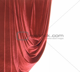 Red Satin Border Isolated on white