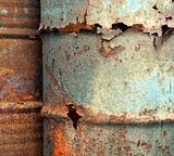 Heavy Corrosion of Oil Drums