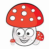 Acrylic illustration of Toadstool