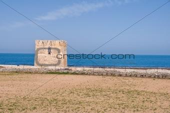 Sighting tower. Polignano a Mare. Apulia.