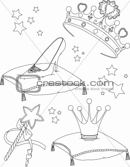 Princess Collectibles coloring page