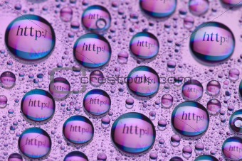 http:// in water drops