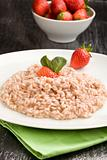 Risotto with Strawberries and Champagne