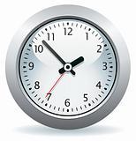 vector gray clock