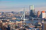 Rotterdam view from Euromast tower