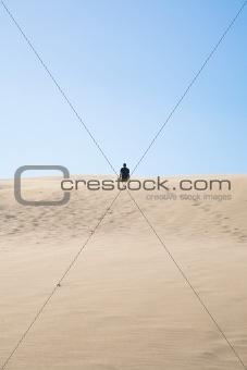 back black desert man