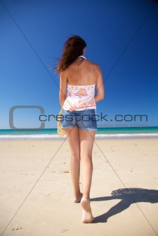 back woman at Zahara beach
