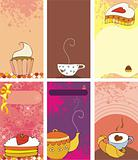 cards with sweets