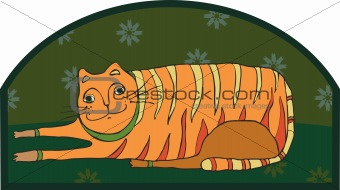 Orange striped big cat