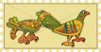 Postage with birds