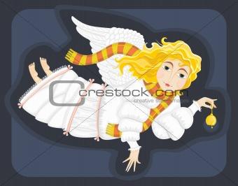 angel in a white dress