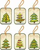Set christmas tags