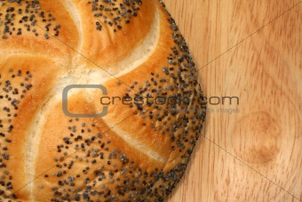 Fresh  poppy seed  roll
