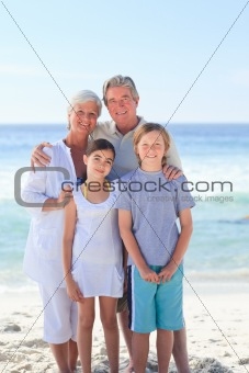 Grandparents with their grandchildren