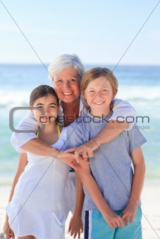 Grandmother with her grandchildren